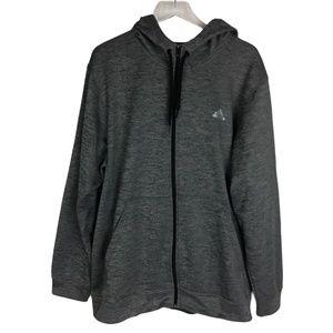 NWOT Adidas Gray Full Zip Up Hoodie 2XL